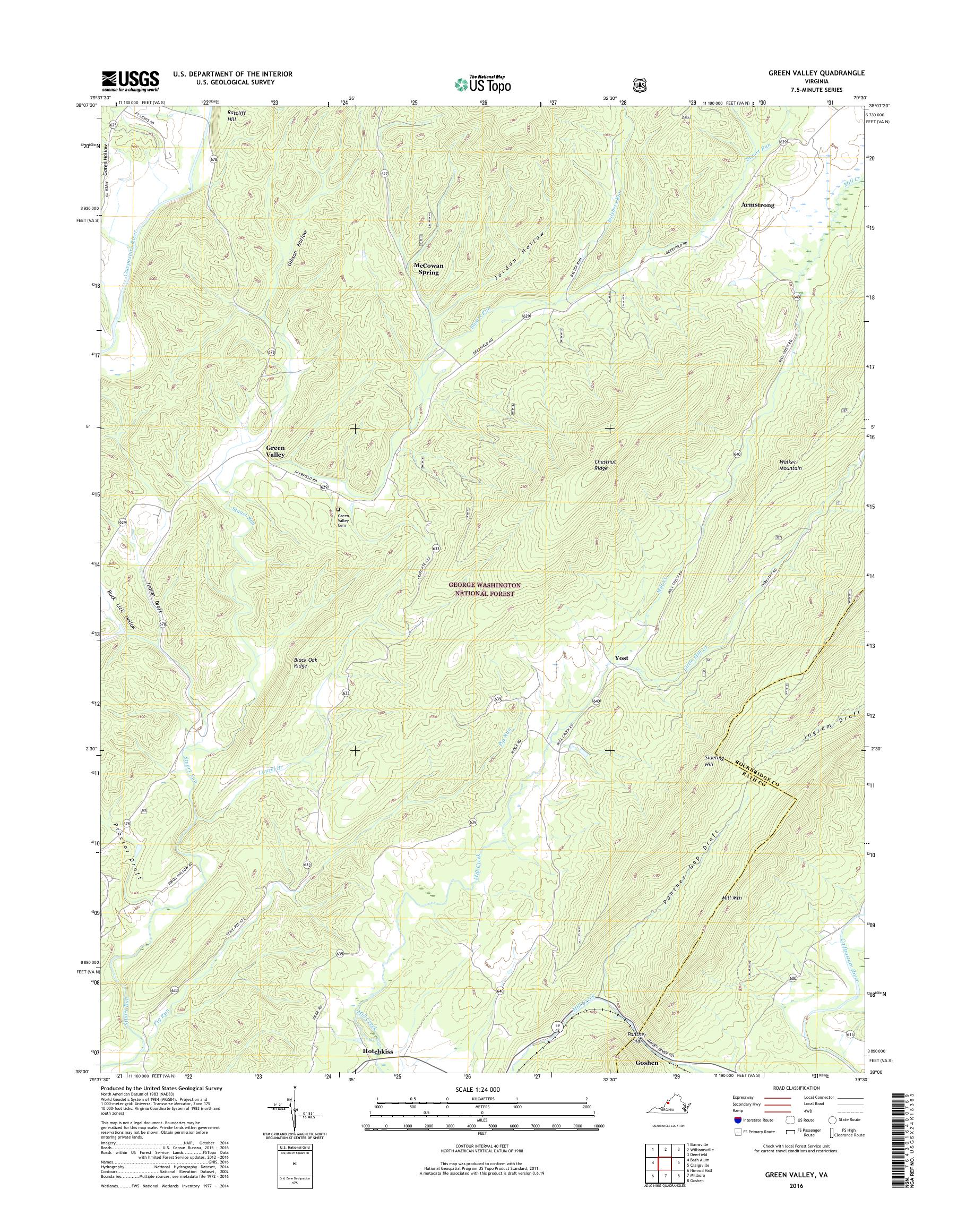 Mytopo Green Valley Virginia Usgs Quad Topo Map