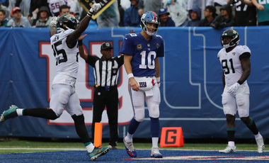 Giants' Eli Manning's INTs are way down over 27 games, but will ballhawk Bears, Eddie Jackson change that?