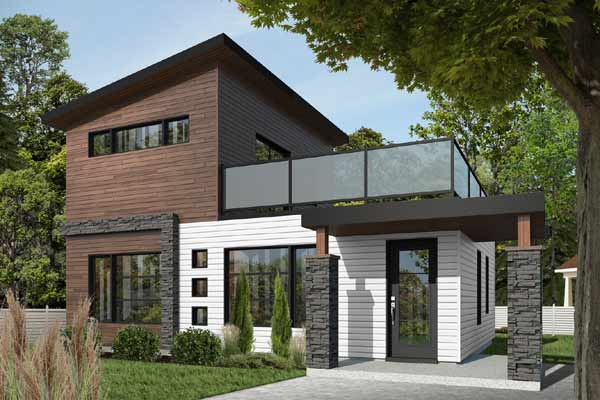 Modern House Plan 2 Bedrooms 2 Bath 924 Sq Ft Plan 5 1240