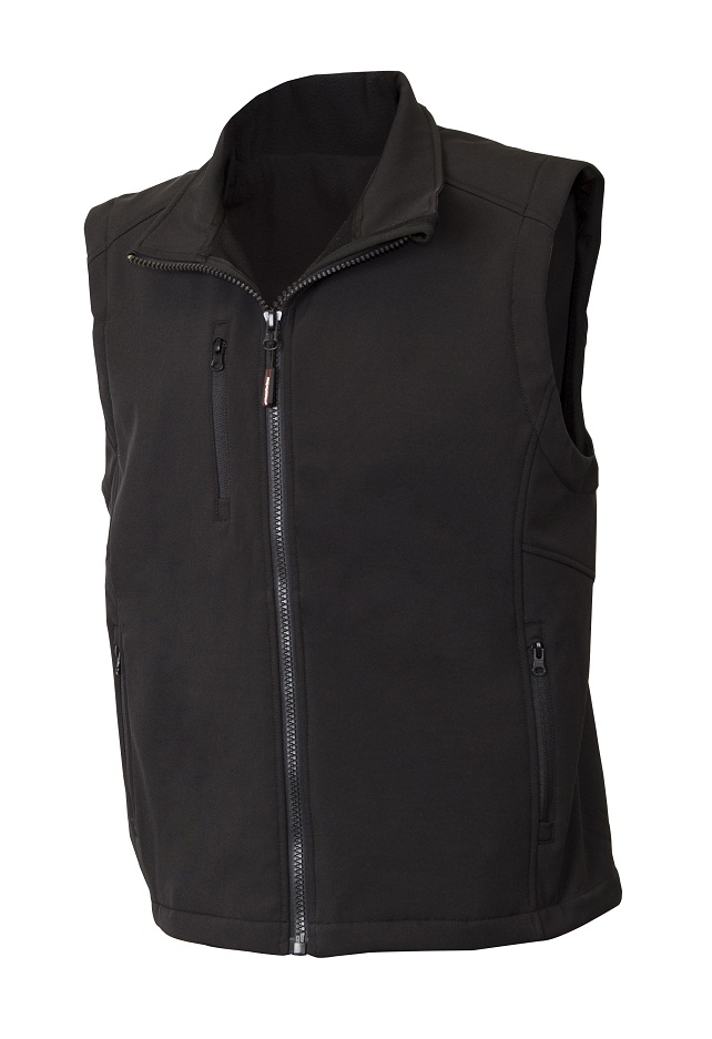 Men's Soft Shell Insulated Vest Black 5XL