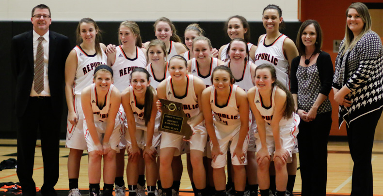 District Champs Once More: Lady Tigers Advance Behind Stanfield's 26