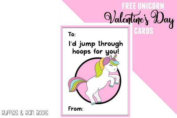 Free Unicorn Valentine's Day Cards Printable for Kids ...