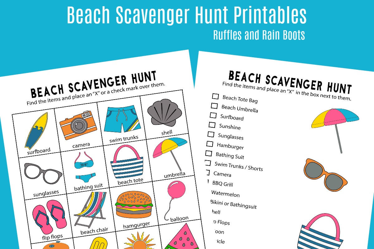 Printable Beach Pictures That Are Adorable