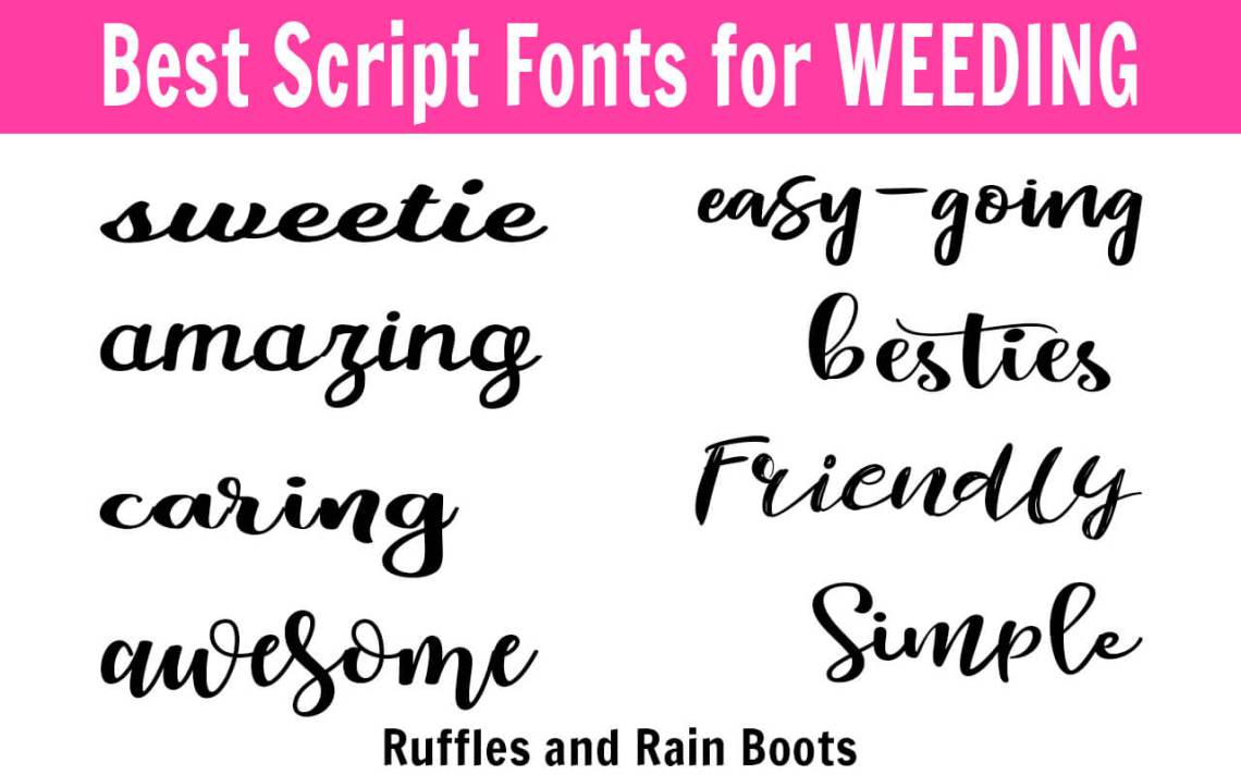 Download The Best Fonts for Weeding - Cricut and Other Cutting Machines
