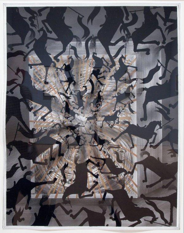 Andrew Schoultz, Dark Horse Apocalypse, 2011 · SFMOMA