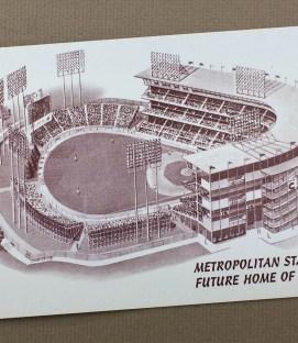 Metropolitan Stadium Retro Postcard