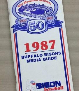 Buffalo Bisons 1987 Media Guide