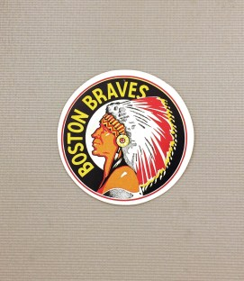 1940s Vintage Boston Braves Decal