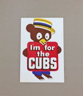 1940s Vintage Chicago Cubs Decal