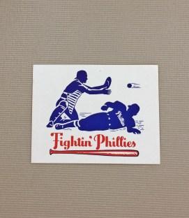 1940s Vintage Philadelphia Phillies Decal