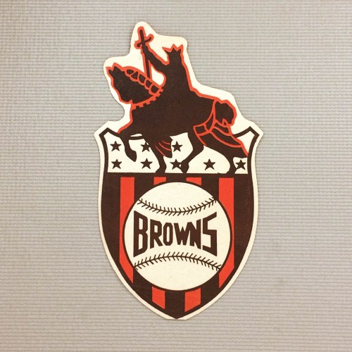 1940s Vintage St Louis Browns Decal