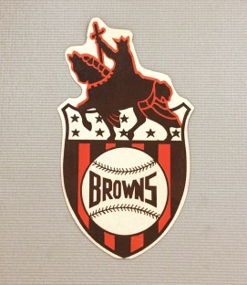 1940s Vintage St Louis Browns Decal