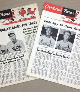 St Louis Cardinals Newsletters 1959