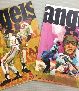California Angels 1968 Program 2 Pack