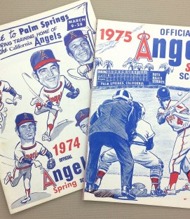 Angels 1974-75 Spring Training Programs