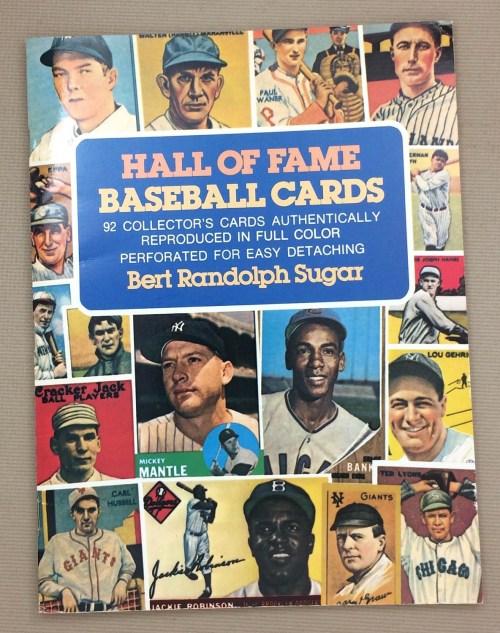 Hall of Fame Baseball Cards Book