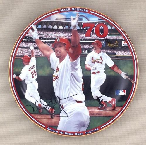 Mark McGwire 70 Home Runs Collectors Plate