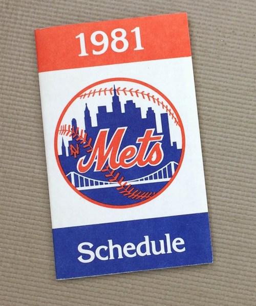 1981 New York Mets Schedule