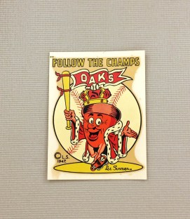 Oakland Oaks 1947 Decal