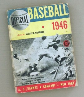1946 Baseball Guide Leslie M. O'Connor