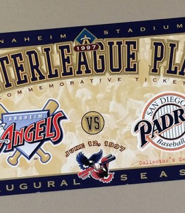 California Angels 1997 Interleague Play Commemorative Ticket
