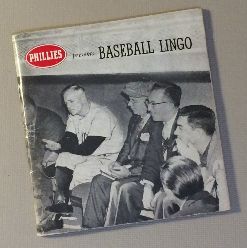 1959 Phillies Cigars Baseball Lingo Booklet
