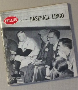 1959 Phillies Cigars Baseball Lingo Booklet