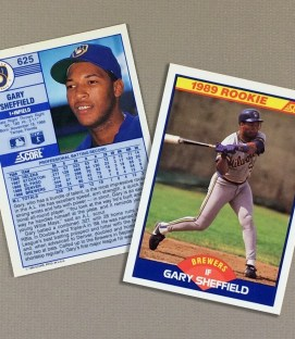 1989 Milwaukee Brewers Gary Sheffield Rookie Card (Score)