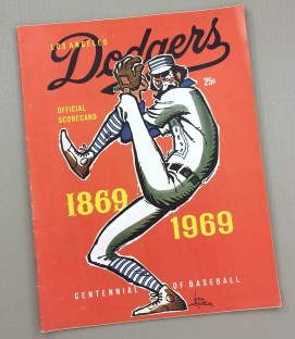 Dodgers 1967 scorecard Dodgers vs Angels Freeway Series