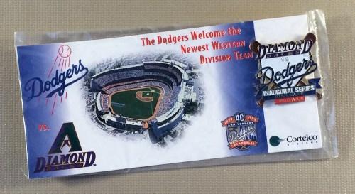 Dodgers Diamondbacks inaugural commemorative Pin