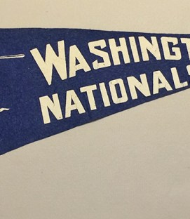 1940s Washington Nationals Felt Pennant