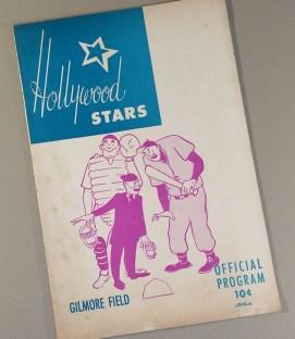 Hollywood Stars 1958 Baseball Program