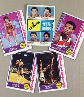 1974-75 Washington Bullets Collectors Card Set