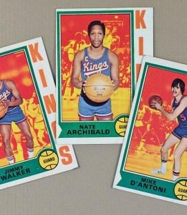 1974-75 Kansas City Kings Collectors Card Set