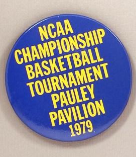 NCAA Championship Basketball Tournament Pauley Pavilion 1969 Button