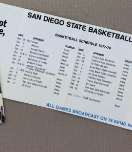 SDSU 1977 Basketball Schedule