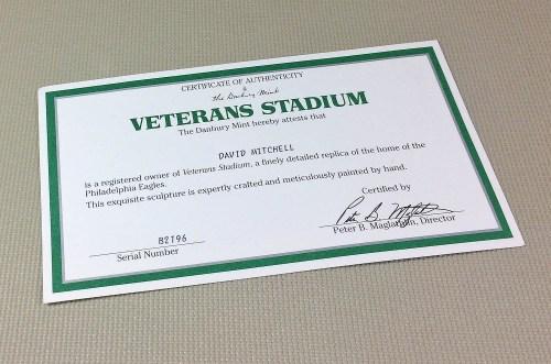 Danbury Mint Veterans Stadium Replica