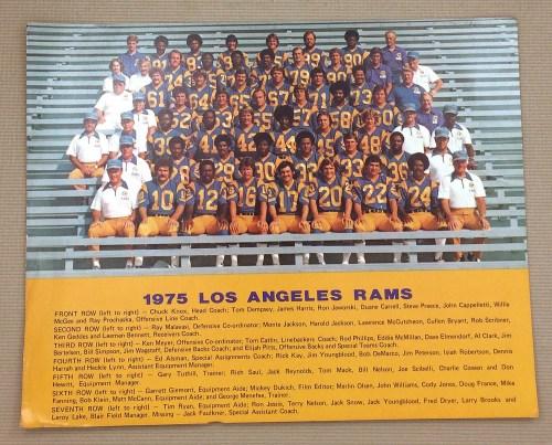 Los Angeles Rams 1975 Team Photo