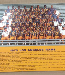 Los Angeles Rams 1975 Team Photo