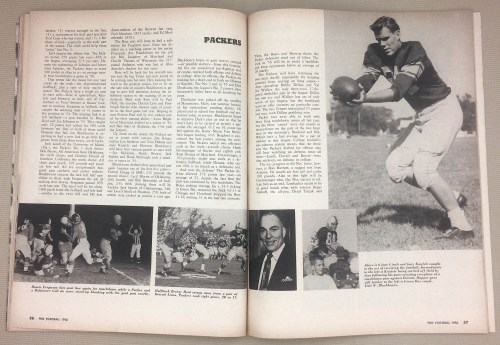 Green Bay Packers Final Statistics 1956