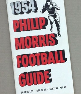 1954 Phillip Morris Football Guide