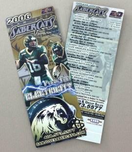 San Jose SaberCats 2006 Schedule
