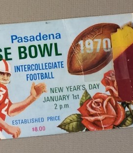 Rose Bowl 1970 Ticket Stub