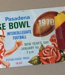 Rose Bowl 1970 Ticket Stub