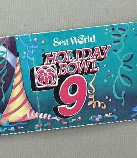 1986 Holiday Bowl Ticket