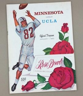 1962 Rose Bowl Game Program
