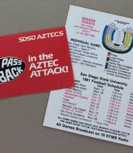 SDSU 1981 Football Schedule