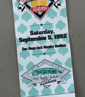 SDSU USC 1992 Ticket