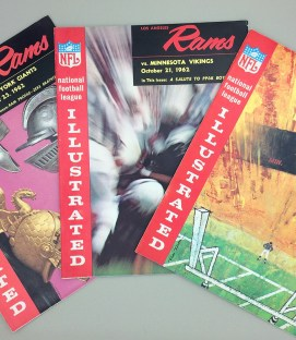 Los Angeles Rams 1962 Game Program 3-Pack