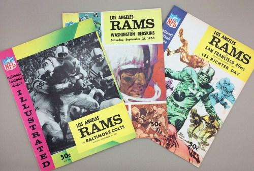 Los Angeles Rams 1963 Game Program 3-Pack